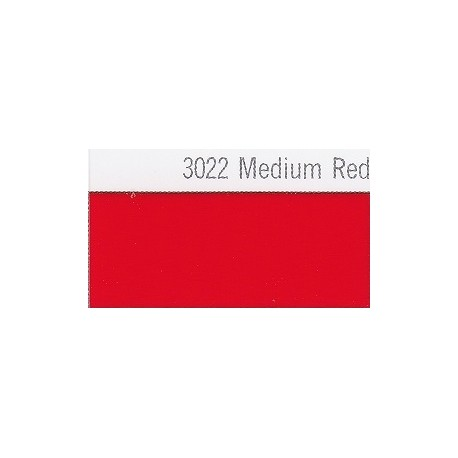 3022 Středně červená plotrová fólie / Plotr Medium Red / lesk