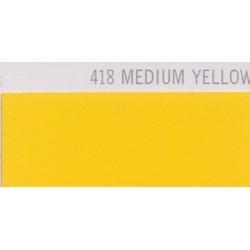 418 MEDIUM YELLOW Poli-Flex PREMIUM Nažehlovací fólie / Středně žlutá