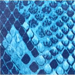Fantasy Flex Blue snake 04 nažehlovací fólie / SEF Textile