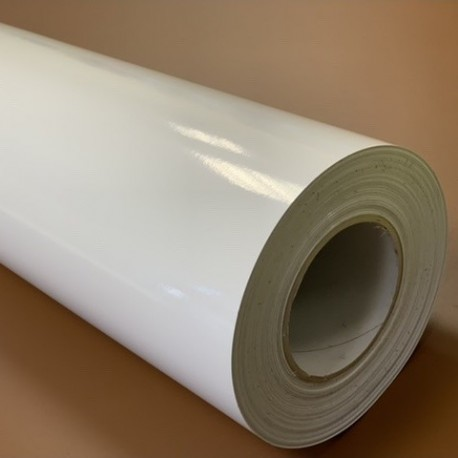75TG tisková fólie transparentní / polymerická / lesklá / transparentní lepidlo