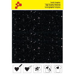 IDD710A Perleťová černá (Arch) nažehlovací fólie / iDigit