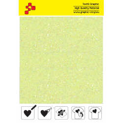 IDDFLUO20A Perleťová neonově žlutá (Arch) nažehlovací fólie / iDigit