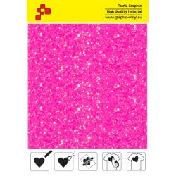 IDDFLUO40A Perleťová neonově růžová (Arch) nažehlovací fólie / iDigit