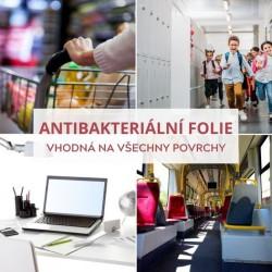 350 Antibacterial čirá antibakteriální samolepicí fólie / iDigit